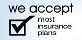 We accept most auto insurance plans.